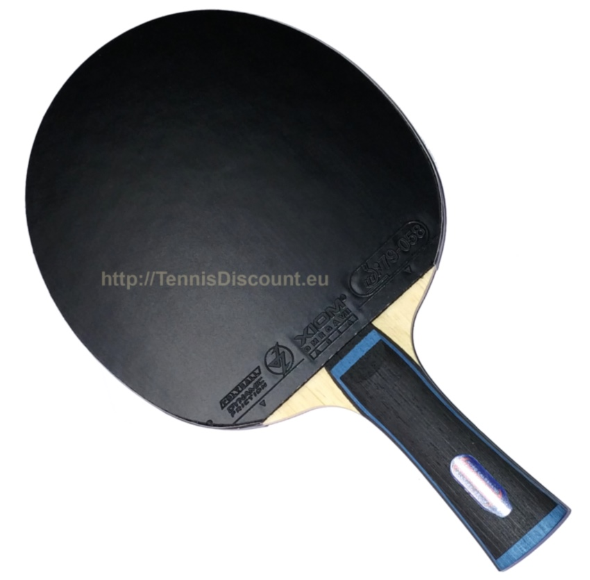 Hugo Calderano's racket with SAL blade & OMEGA VII TOUR rubbers